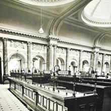 Old school image of Gibson Hall back in the 1800's Wow imagine if our banks were like this now! #throwbackthursday