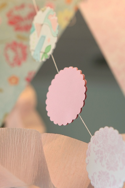 Paper Garland , could do with grosgrain ribbon