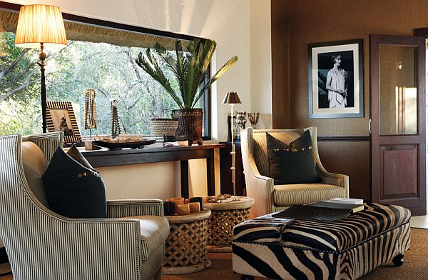 "Decorating With a Safari Theme: 16 Wild Ideas  (ignore the ""love nest"" references!! OMG!)"