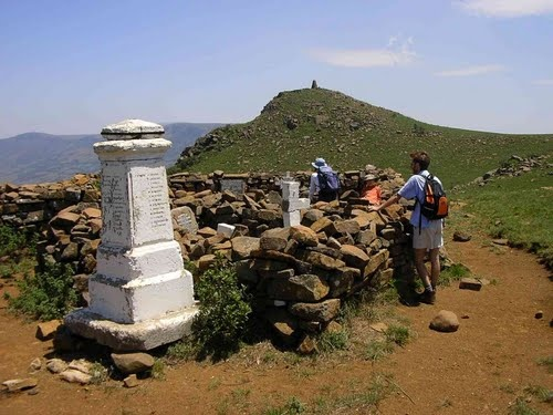 The British Cemetery on top of Majuba Mountain - This Day in History: Feb 27, 1881: The Battle of Majuba Hill, South Africa http://dingeengoete.blogspot.com/