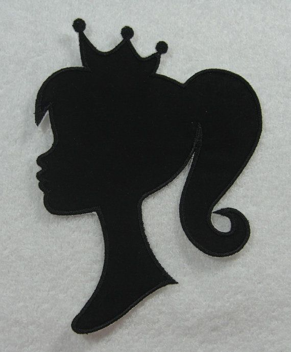 Iron on applique, Barbie and Silhouette on Pinterest