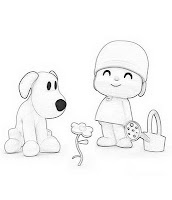 Pocoyo coloring pages