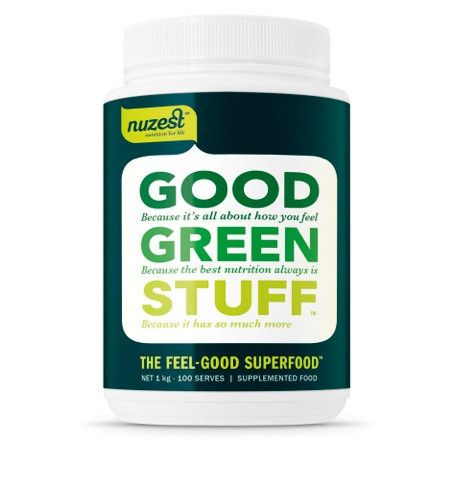 The real power of Good Green Stuff is in its high concentration of fruits, berries, vegetables, green algae, and herbs. This is REAL FOOD, RAW and ALIVE as nature intended, not a synthetic multi-vitamin. It's NUTRITION that your body recognises and can use.   Good Green Stuff contains the antioxidant equivalent of 8 servings of fruits and vegetables in one serve and it's cold blended so that enzymes and heat-sensitive nutrients remain intact.