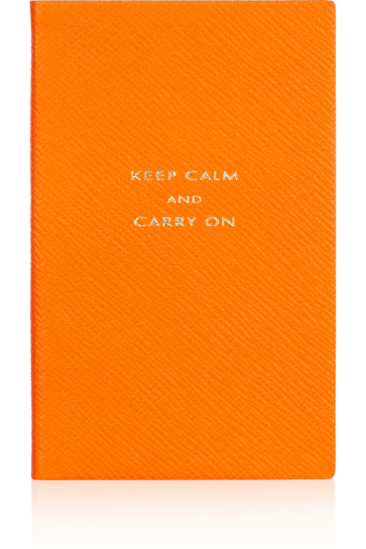 Keep calm and biohazard on keep calm and carry on image generator - Smythson Keep Calm And Carry On Textured Leather Notebook