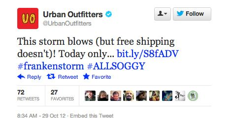 Don't use a disaster to promote your product! - Social Media Epic Fails #ViralInNature