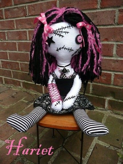 Cute Zombie Rag Doll. This is what Belle wants to be for Halloween!
