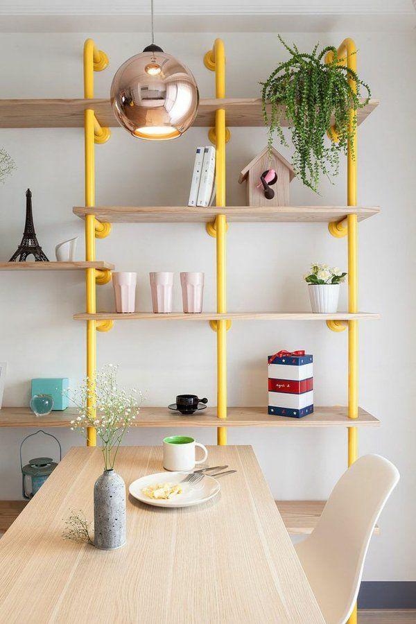 Diy Möbel Kreative Wohnideen Esszimmer Holzregal Metallrohre Gestell