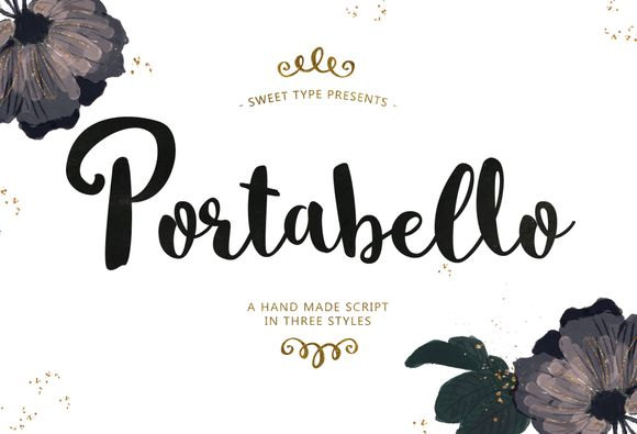 Portabello Script Trio by Sweet Type on Creative Market