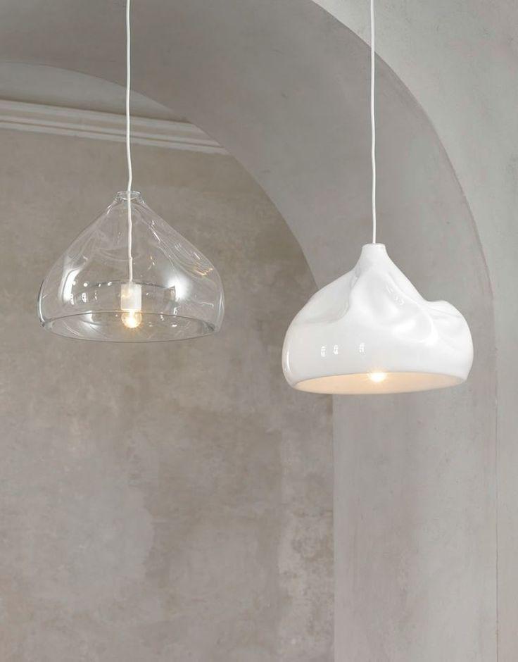 Direct light blown #glass pendant #lamp INHALE LAMP by Lasvit   #design Nendo @Lasvit