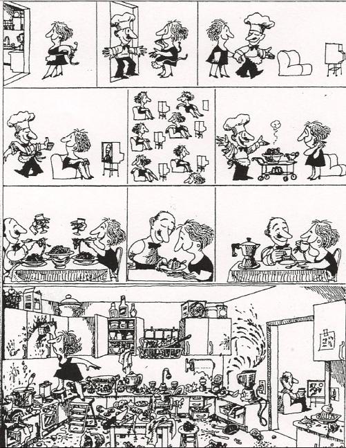 Historietas de Quino: la cena | Taller de cómics para la