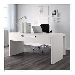IKEA - MALM, Schreibtisch mit Ausziehplatte, Birkenfurnier, , Die Ausziehplatte bietet zusätzliche Arbeitsfläche.Im Fach unter der Tischplatte sind Kabel und Mehrfachsteckdosen griffbereit und doch außer Sichtweite.Die ausziehbare Arbeitsfläche kann nach Bedarf links oder rechts angebracht werden.Kann frei im Raum stehen, da es auch auf der Rückseite behandelt ist.
