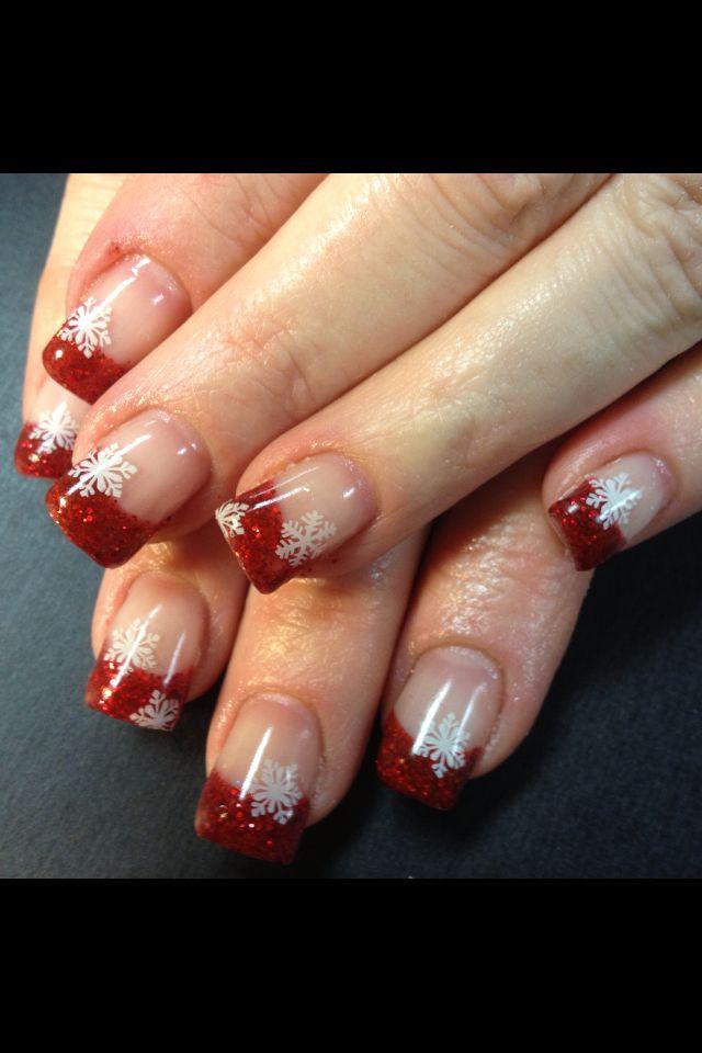 Christmas nails Luxury Beauty - winter nails - http://amzn.to/2lfafj4
