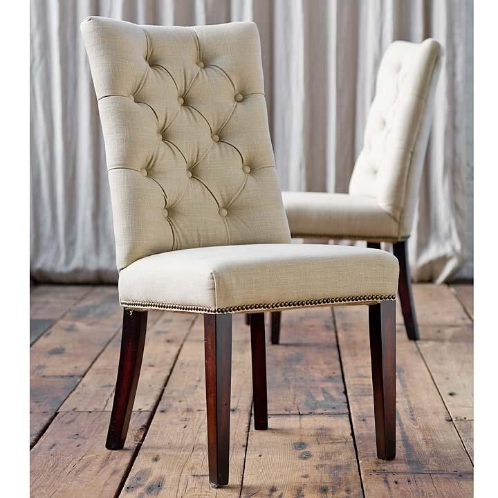 Tufted Linen Parsons Chair By Regina Andrew Living Room ChairsDining