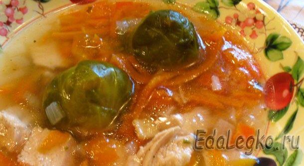 Легкий куриный суп с брюссельской капустой – это хорошее разнообразие меню летних обедов #супсбрюссельскойкапустой #рецептысбрюссельскойкапустой #брюссельскаяапуста