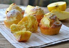 Muffin con panna e mele ricetta facile soffici e golosi con panna montata nell'impasto ideali a colazione e merenda,facili ed economici