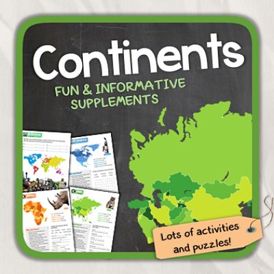 Thematic Worksheets from Continents on TeachersNotebook.com - (15 pages) - Let's learn about continents!