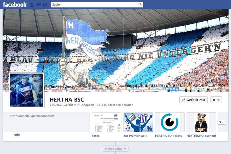Hertha BSC Facebook Fanpage