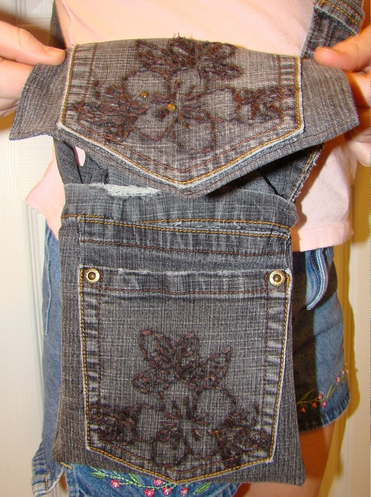 Recycle Jeans into a satchel