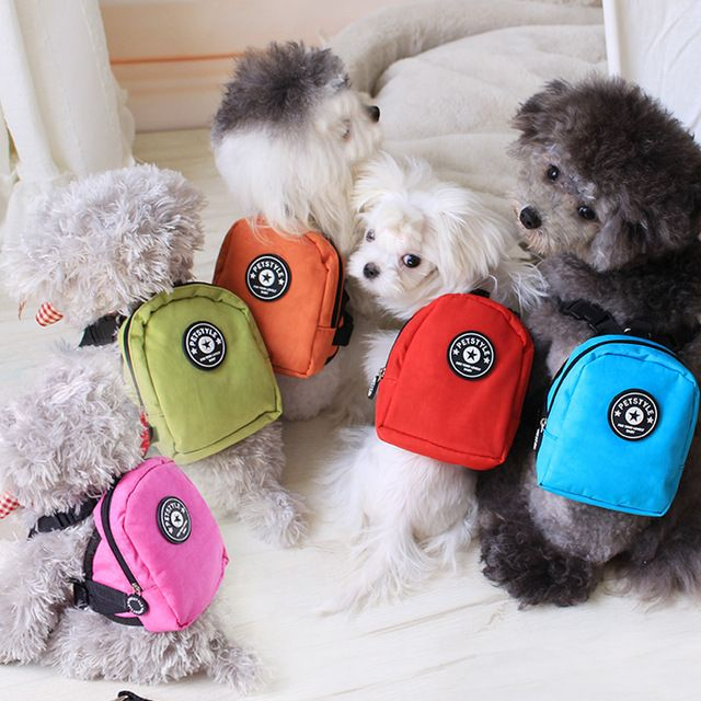 Five Colors Solid Nylon Dog Bags Backpacks With Leash For Small Dogs 2015 New Supplies Pet Products For Animals