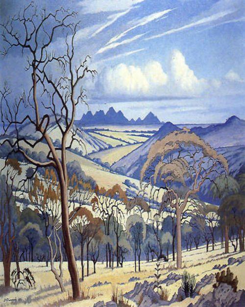 Jacob Hendrik Pierneef - Landscape, Noord Transvaal (Gouache)