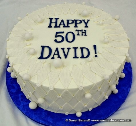 Try this classic cake for his 50th! - From Sweet Sisters! #dessert #cake #birthdaycake #happybirthday #husband #hisbirthday #SweetSisters