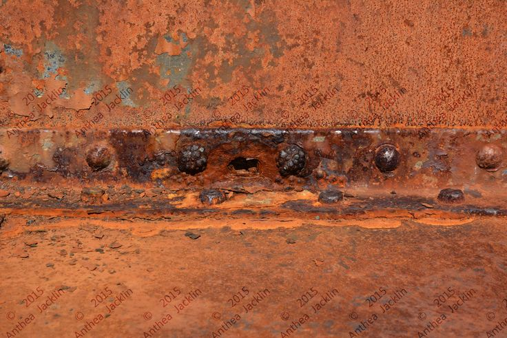 Rusty seam, construction inspiration with textural eyes