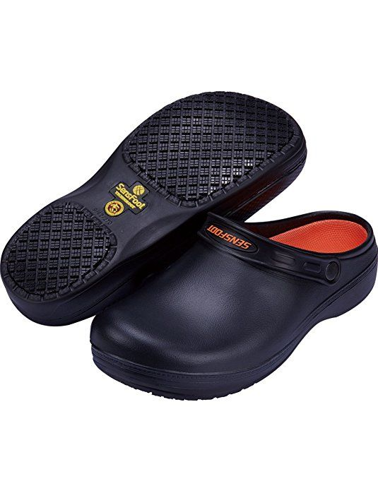 SensFoot Slip Resistant Chef Clogs for Kitchen Non Slip Work Shoes for Men  Women (9 M US Women 6.5-7 M US Men) edd6eb2764
