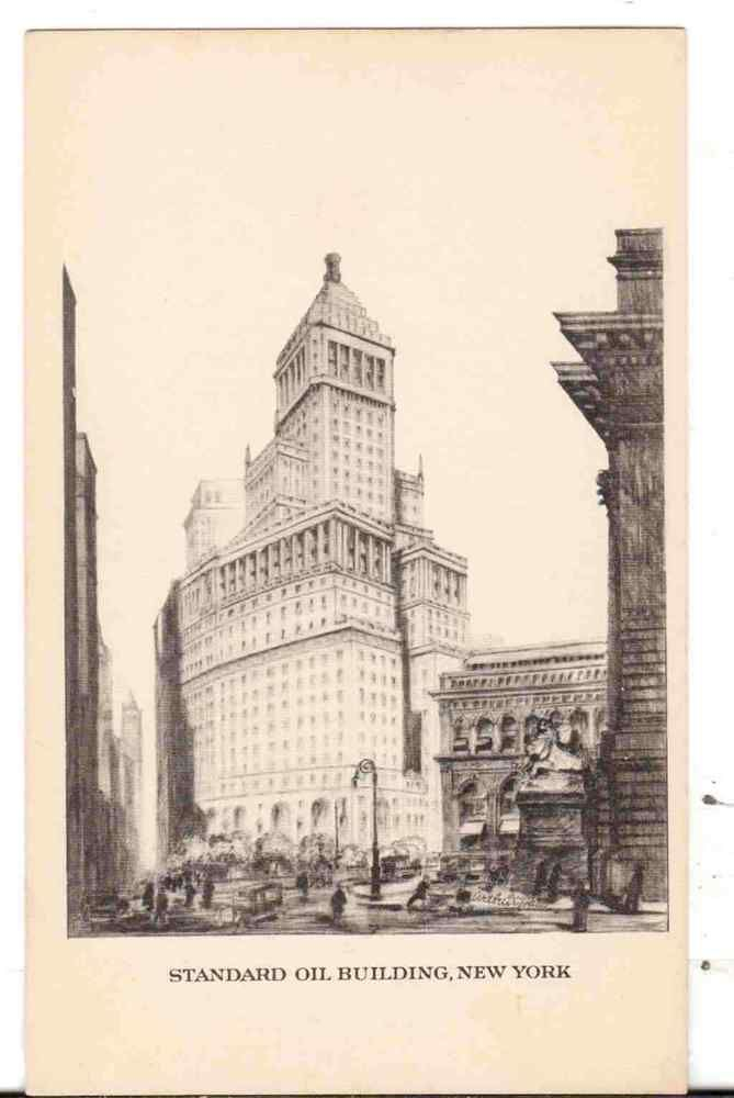 Undated Unused Postcard Standard Oil Building New York NY