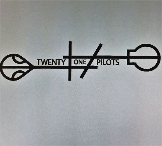 Hey, I found this really awesome Etsy listing at https://www.etsy.com/listing/464558536/twenty-one-pilots-logo-vinyl-decal