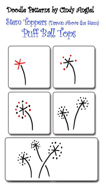 StemTopper- Puff BallPainting Chips, Paint Chips, Puffball, Zentangle Doodles, Ball Tops, Tangled Pattern, Zentangle Pattern, Drawing, Puff Ball