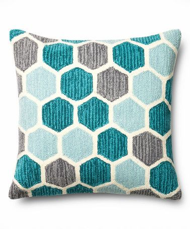 Another great find on #zulily! Teal & Gray Honeycomb Throw Pillow #zulilyfinds