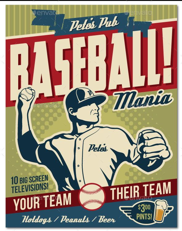 450 best Flyer \ Poster Design images on Pinterest Drawing - baseball flyer