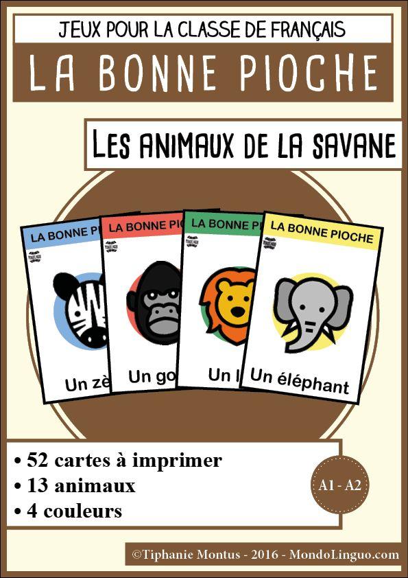 BP - Les animaux de la savane | Mondolinguo - Français