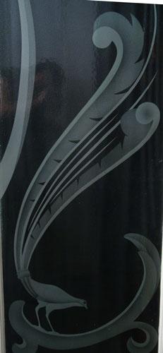 Shop — Garage Sales — Fabulous Pair of Etched Glass Art Deco Doors w/Original Handles in a Bird Motif | MINT & MOSS