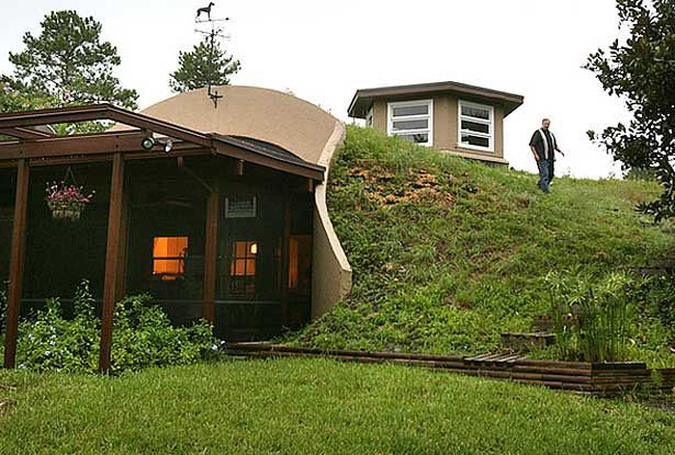 Earth bermed homes