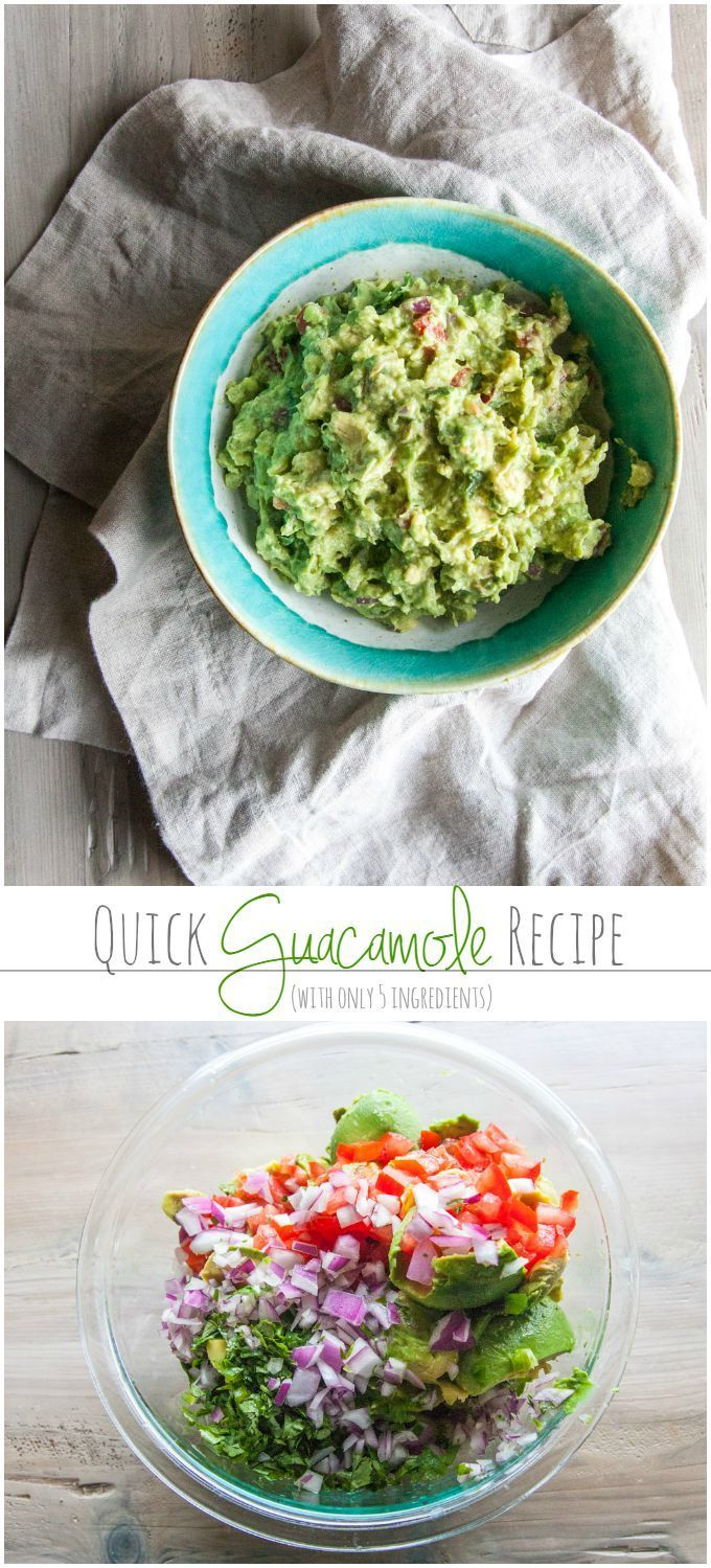 Quick and easy guacamole recipe with only 5 ingredients from @sweetphi: Quick and easy guacamole recipe perfect for game day dips