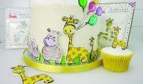 Giraffe and Hippo Cake