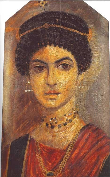 2e11b6dc9 Mummy portrait of a young women, from Hawara, Egypt, ca
