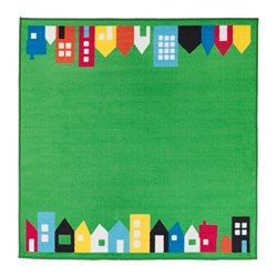 "HEMMAHOS Rug, green - 52 3/8x52 3/8 "" - IKEA"