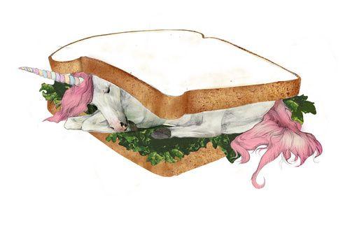 Kathryn MacnaughtonKathryn Macnaughton, Unicorns Sandwiches, Illustration, Art, Pretty Things, Unicorns Sammiches, Yummy Unicorns, Kathrynmacnaughton, Macnaughton Unicorns