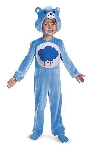 Disguise Baby Girls Care Bears Grumpy Bear Classic Costume @ niftywarehouse.com