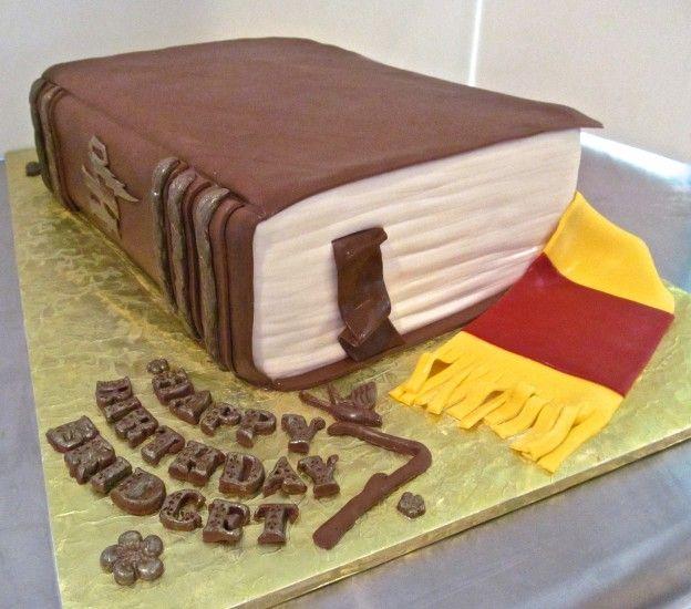 Harry Potter Book Cake Tutorial