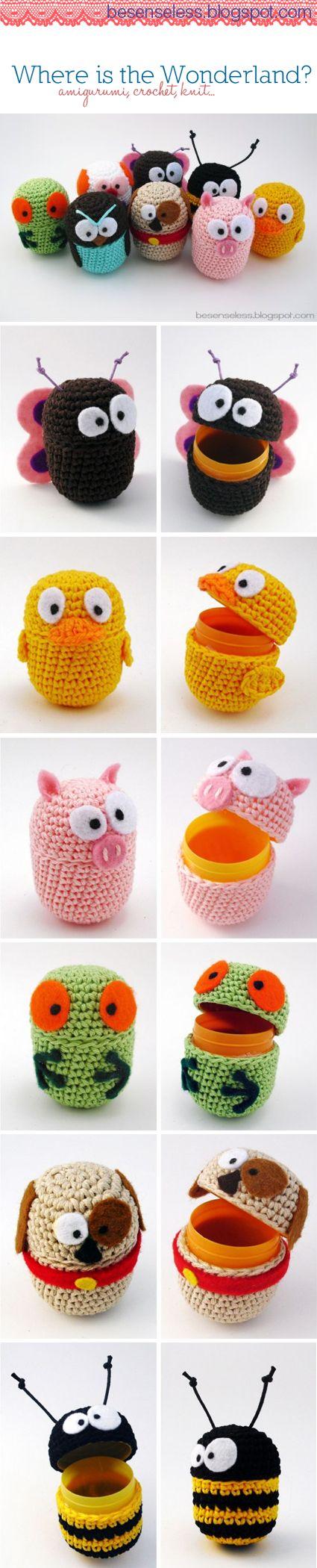 卵·あみぐるみ | ovetti-amigurumi | eggs-amigurumi #amigurumi #crochet #uncinetto #あみぐるみ | From Italy by besenseless.blogspot.it
