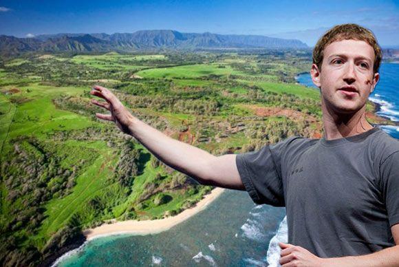 O cofundador da rede social Facebook, Mark Zuckerberg, comprou parte de uma ilha do Havai por 100 milhões de dólares (79 milhões de euros), revelou a revista norte-americana Forbes