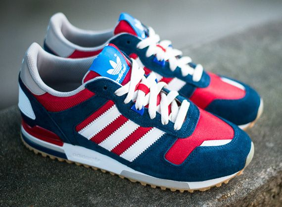 adidas Originals ZX 700 - Navy / Red - White | KicksOnFire.com