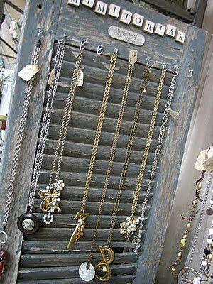 Old Shutter Jewelry Hanger Love It Soo So Soooo Much
