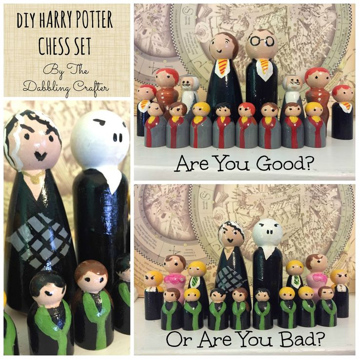 The Dabbling Crafter: Show & Tell: DIY Harry Potter Inspired Chess Set