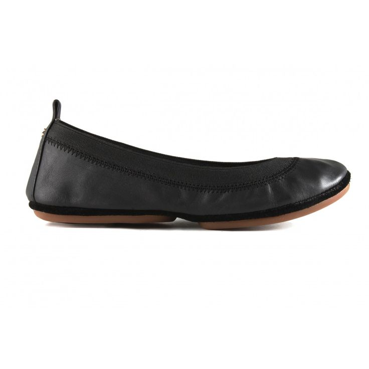 Samara Soft Leather in Black - Yosi Samra Foldable Ballet Flats