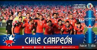 Chile Campeon de America 2015!!!!!!!!!