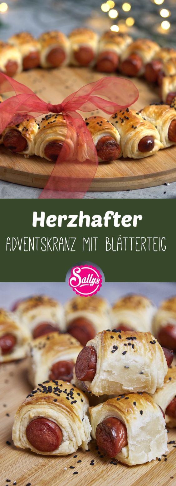 Herzhafter Adventskranz mit Blätterteig – Pinterest Deutschland, Österreich & Schweiz